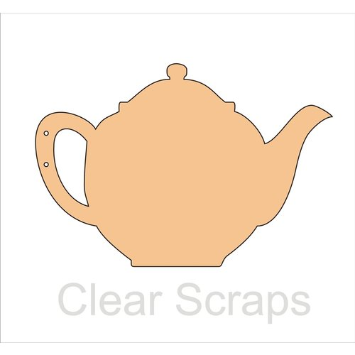 Clear Scraps - Chipboard Album - Tea Pot