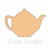 Clear Scraps - Chipboard Album - Tea Pot
