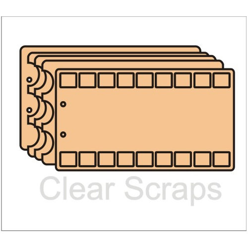 Clear Scraps - Chipboard Album - Theatre Album