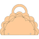 Clear Scraps - Chipboard Album - Flower Brag Bag