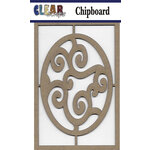 Clear Scraps - Chipboard Embellishments - Swirl Egg