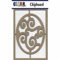 Clear Scraps - Chipboard Embellishments - Swirl Egg
