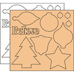 Clear Scraps - Clear-n-Chip Mix Pack - 12 x 12 Acrylic and Chipboard - Believe