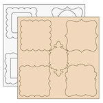 Clear Scraps - Clear-n-Chip Mix Pack - 12 x 12 Acrylic and Chipboard - Chloe Vintage Frames