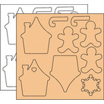 Clear Scraps - Clear-n-Chip Mix Pack - 12 x 12 Acrylic and Chipboard - Holiday Treats