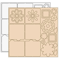 Clear Scraps - Clear-n-Chip Mix Pack - 12 x 12 Acrylic and Chipbaord - Little Miss Molly, BRAND NEW