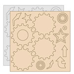 Clear Scraps - Clear-n-Chip Mix Pack - 12 x 12 Acrylic and Chipboard - Carson's Park
