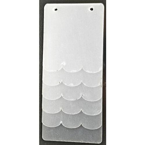 Clear Scraps - 3.5 x 8 Mini Acrylic Album - Scallop