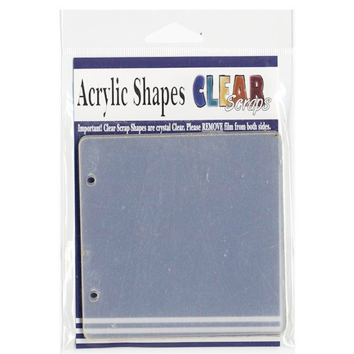 Clear Scraps - Clear Acrylic Album - 4 Pages Regular - 4 x 4