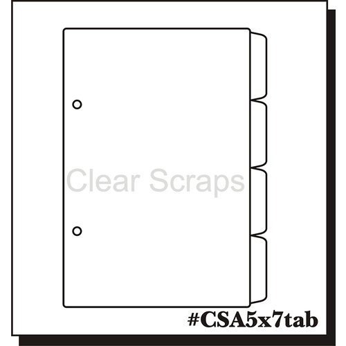 Clear Scraps - Clear Acrylic Album - 5 x 7 Tab Pages