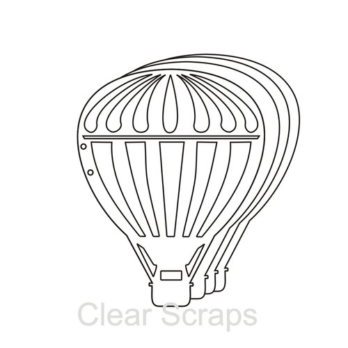 Clear Scraps - Clear Acrylic Album - Balloon