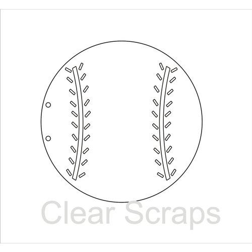 Clear Scraps - Clear Acrylic Album - Baseball