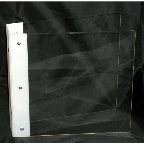 Clear Scraps - Build it Your Way - Clear Acrylic Binder with 3 Ring Binding - Fits 9 x 11.5 Inch Pages