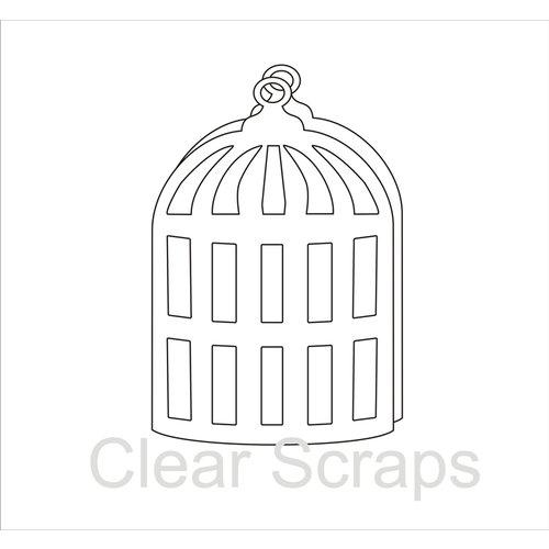 Clear Scraps - Clear Acrylic Album - Bird Cage