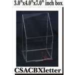 Clear Scraps - Acrylic Box - Letter and Tag