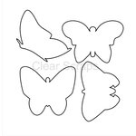Clear Scraps - Clear Acrylic Shapes - Butterflies