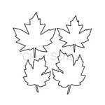 Clear Scraps - Clear Acrylic Shapes - Leaves