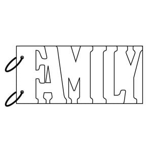 Clear Scraps - Clear Album Wordbook - Family, CLEARANCE