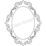 Clear Scraps - Clearly Framed - Oval Center, Fancy Outer - Medium