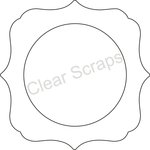Clear Scraps - Clearly Framed - Circle Center, Deco Outer - Small
