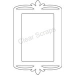 Clear Scraps - Clearly Framed - Rectangle Center, Decorative Outer Top - Small