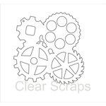 Clear Scraps - Clear Acrylic Album - Gears