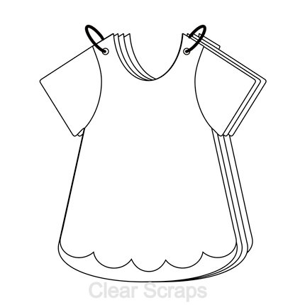 Clear Scraps - Clear Acrylic Album - Girls Bib Dress