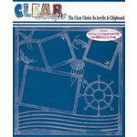 Clear Scraps - 12 x 12 Acrylic Layout - Ahoy