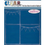 Clear Scraps - 12 x 12 Acrylic Layout - Banners