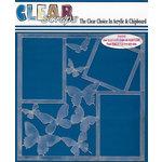 Clear Scraps - 12 x 12 Acrylic Layout - Butterflies