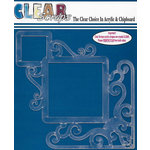 Clear Scraps - 12 x 12 Acrylic Layout - Corner Flourish