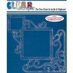 Clear Scraps - 12 x 12 Acrylic Layout - Corner Flourish