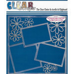 Clear Scraps - 12 x 12 Acrylic Layout - Daisies