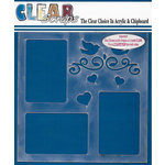 Clear Scraps - 12 x 12 Acrylic Layout - Doves