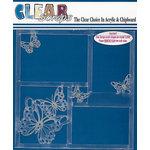 Clear Scraps - 12 x 12 Acrylic Layout - Mono Butterflies