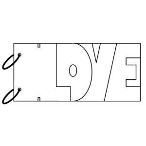 Clear Scraps - Clear Album Wordbook - Love, CLEARANCE