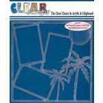 Clear Scraps - 12 x 12 Acrylic Layout - Palm Trees