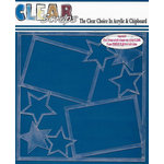 Clear Scraps - 12 x 12 Acrylic Layout - Stars