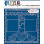 Clear Scraps - 12 x 12 Acrylic Layout - Wave Hearts