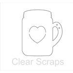 Clear Scraps - Clear Acrylic Album - Mason Jar