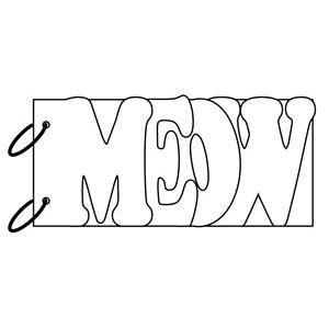 Clear Scraps - Clear Album Wordbook - Meow, CLEARANCE