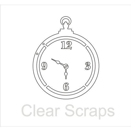 Clear Scraps - Clear Acrylic Album - Pocket Watch