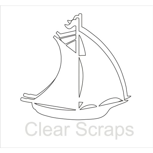 Clear Scraps - Clear Acrylic Album - Sail Boat