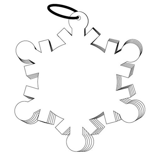 Clear Scraps - Clear Album - Christmas - Snowflake