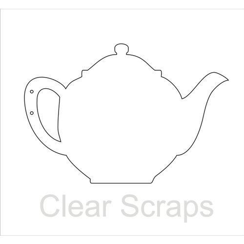 Clear Scraps - Clear Acrylic Album - Tea Pot