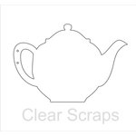 Clear Scraps - Clear Acrylic Album - Tea Pot