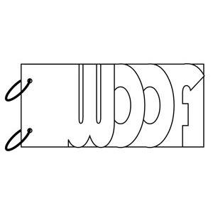Clear Scraps - Clear Album Wordbook - Woof, CLEARANCE