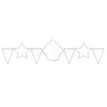 Clear Scraps - Clear Acrylic Banner - Birthday, CLEARANCE