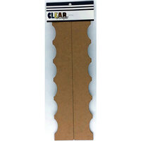 Clear Scraps - Chipboard Cut Apart Borders - Slimline - 2 Pack - Curves