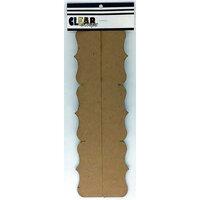 Clear Scraps - Chipboard Cut Apart Borders - Slimline - 2 Pack - Deco